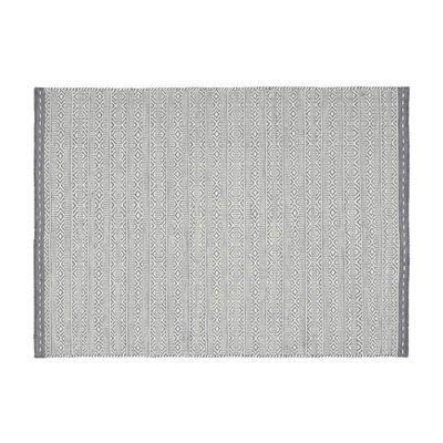 Tapis 120x170 cm en tissu gris - OUZIA