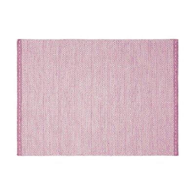 Tapis 120x170 cm en tissu rose - OUZIA