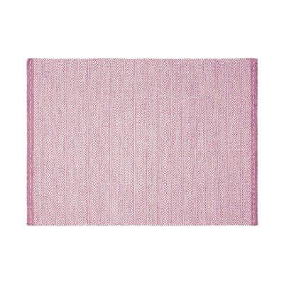 Tapis 160x230 cm en tissu rose - OUZIA