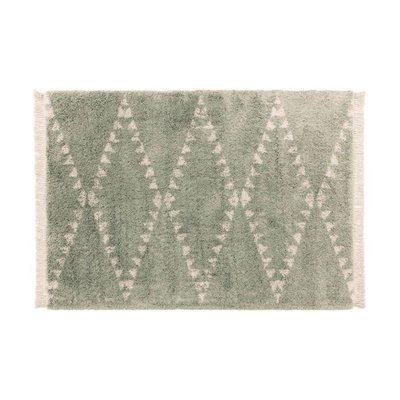 Tapis 160x230 cm design losanges vert - JOLIA