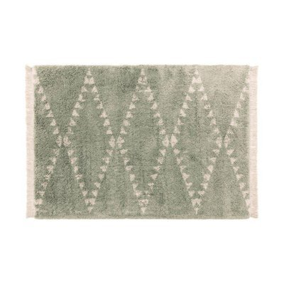 Tapis 200x290 cm design losanges vert - JOLIA
