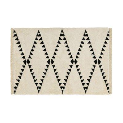 Tapis 160x230 cm design losanges beige - JOLIA