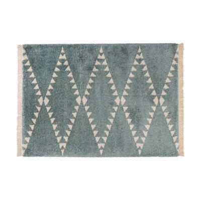 Tapis 120x170 cm design losanges bleu - JOLIA