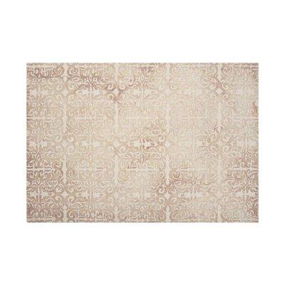 Tapis 120x170 cm en laine et coton beige - ALGO
