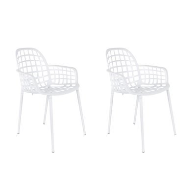 Lot de 2 chaises de jardin en aluminium blanc - KUIP