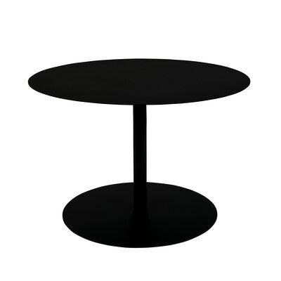 Table basse ronde 60x40 cm en acier noir - SNOW