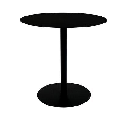 Table d'appoint ronde 35x45 cm en acier noir - SNOW