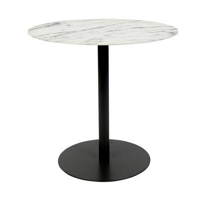 Table basse 42x31x40 cm en marbre et acier noir - SNOW