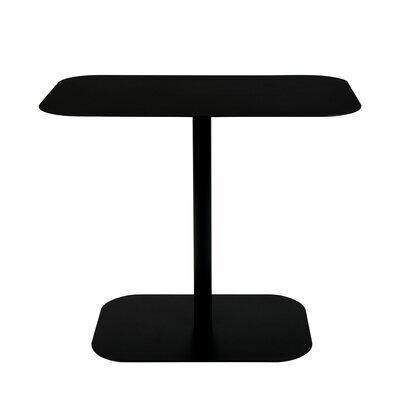 Table d'appoint 50x30x42,5 cm en acier noir - SNOW