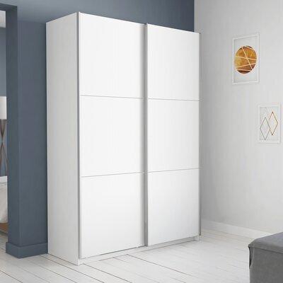 Armoire 2 portes coulissantes 179x65x224 cm blanc - KELYS