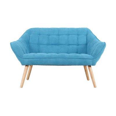 Canapé 2 places 127x75x76 cm en tissu suédine turquoise - MARKO