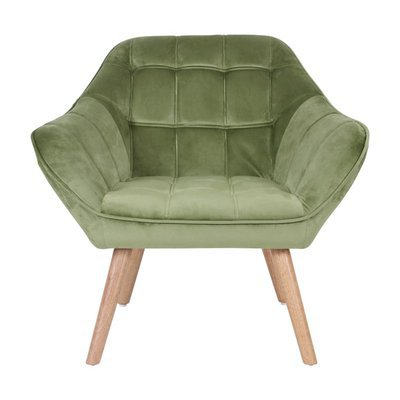 Fauteuil 82x75x75 cm en tissu velours vert - MARKO