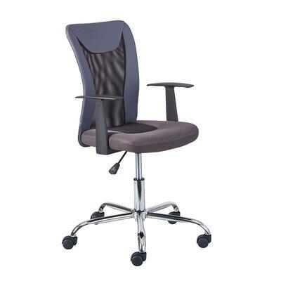 Chaise de bureau enfant avec accoudoirs gris et noir - CHILD