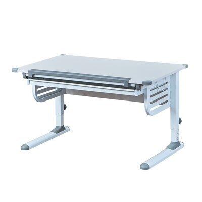 Bureau multifonction 110x68x55/78 cm blanc et gris- MODULAR