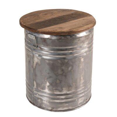 Tabouret 42x42x49 cm en bois recyclé et métal - ALMON