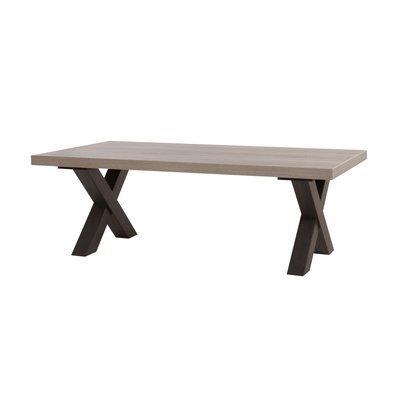 Table basse 130x45x68 cm chêne et noir - ROBIN