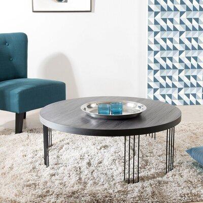 Table basse ronde 95 cm en bois et métal - LASTY