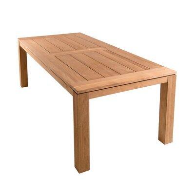 Table de jardin pieds carrés 220x100x78 cm en teck - GARDENA
