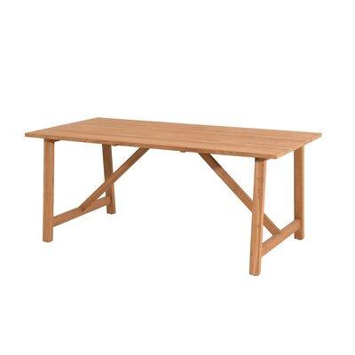 Table de jardin en teck 180x90x76 cm - GARDENA