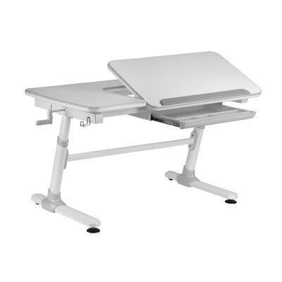 Bureau multifonction 119 cm gris et blanc - LUFFY