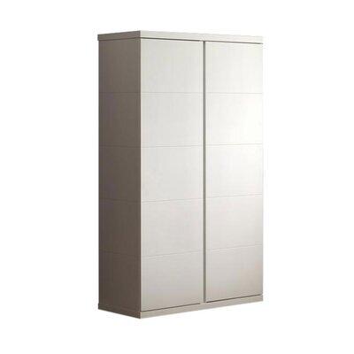 Armoire 2 portes 110x57x205 cm laqué blanc - CROFT