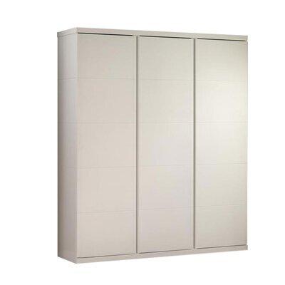 Armoire 3 portes 166x57x205 cm laqué blanc - CROFT