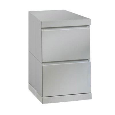 Caisson de bureau 2 tiroirs laqué blanc - CROFT