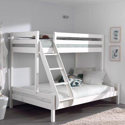 Lit superposés couchages 90 et 140 cm blanc - PINO