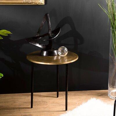 Table d'appoint ronde 51x52 cm en aluminium doré - JOSY