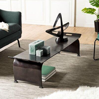 Table basse 163x40x41 cm en aluminium noir - JOSY
