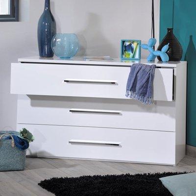 Commode 3 tiroirs 120 cm blanche - DULTON