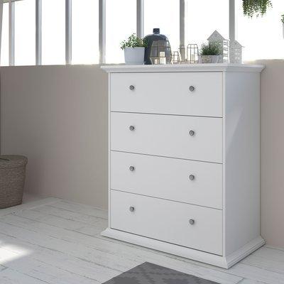 Commode 4 tiroirs 85 cm blanche - SHALLO