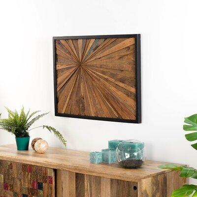 Tableau 60x80 cm en teck recyclé et cadre noir - TEAKY