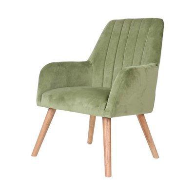 Fauteuil 63x64x90 cm en tissu velours vert clair - WARE