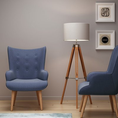 Fauteuil 69x76x98 cm en tissu bleu - JOFFRY
