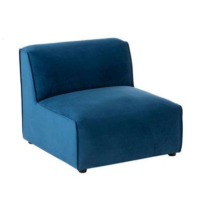 Fauteuil 80x90x70 cm en tissu bleu foncé - DIPSY