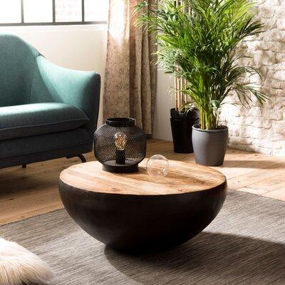 Table basse ronde 71x71x31 cm en manguier et métal - PILEA