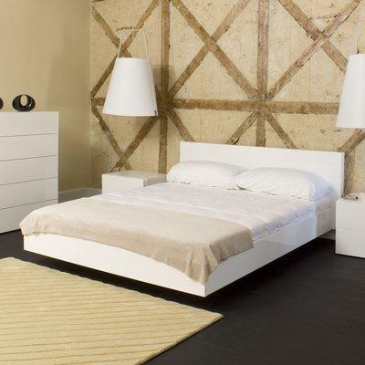 Lit 160x200 cm décor blanc mat - WILDA