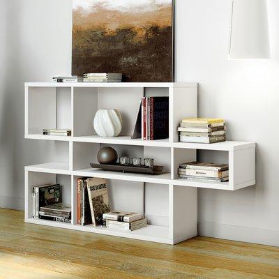 Etagère 156x34x100 cm décor blanc mat - MATHIS