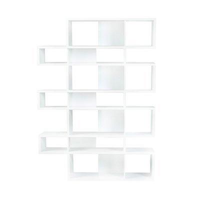 Etagère 156x34x220 cm décor blanc mat - MATHIS