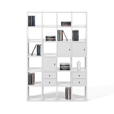 Etagère 151x34x224 cm décor blanc mat - VICTOR