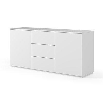 Buffet 2 portes et 3 tiroirs blanc mat