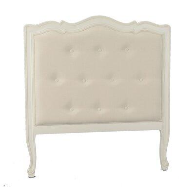 Tête de lit 104 cm en bois blanc et tissu écru - CHARMY