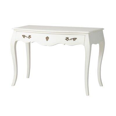 Bureau 1 tiroir 110 cm en bois blanc - CHARMY
