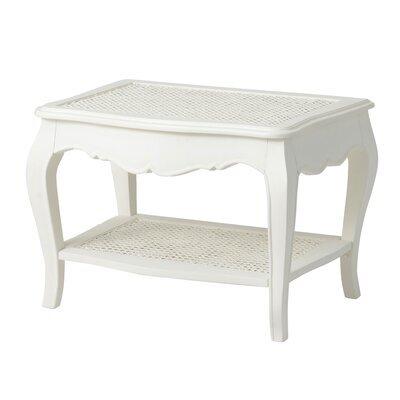 Table basse 65 cm en bois blanc - CHARMY