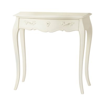 Bureau 1 tiroir 80 cm en bois blanc - CHARMY BLANC