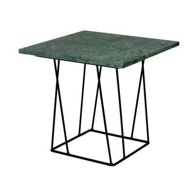 Table d'appoint plateau en marbre vert piètement noir - TONKY
