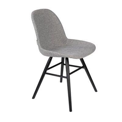 Lot de 2 chaises repas grises et pieds noirs - KUIP