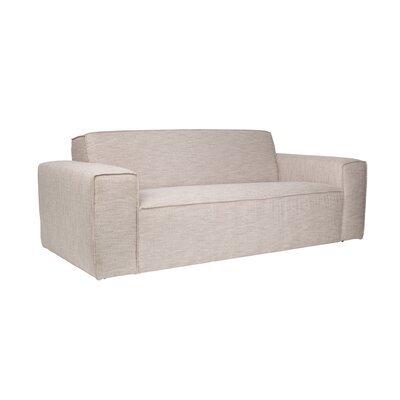 Canapé 2,5 places en tissu beige - BOR