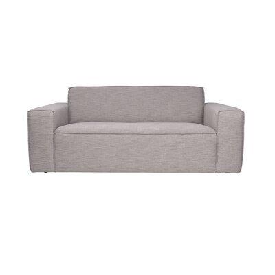 Canapé 2,5 places en tissu gris - BOR